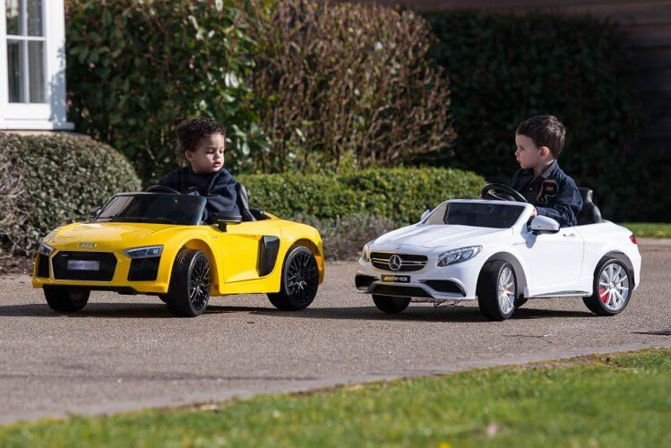 Ride On Cars R8 and Mercedes more than you can afford