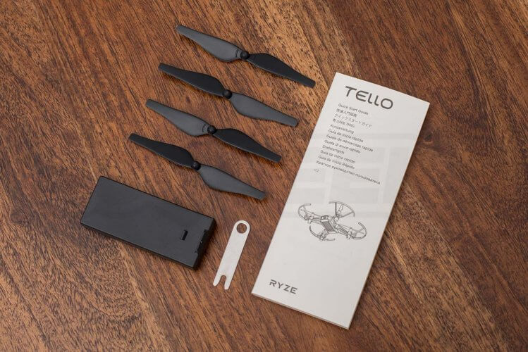 Ryze Tello review accessory pack battery propellers tool manual