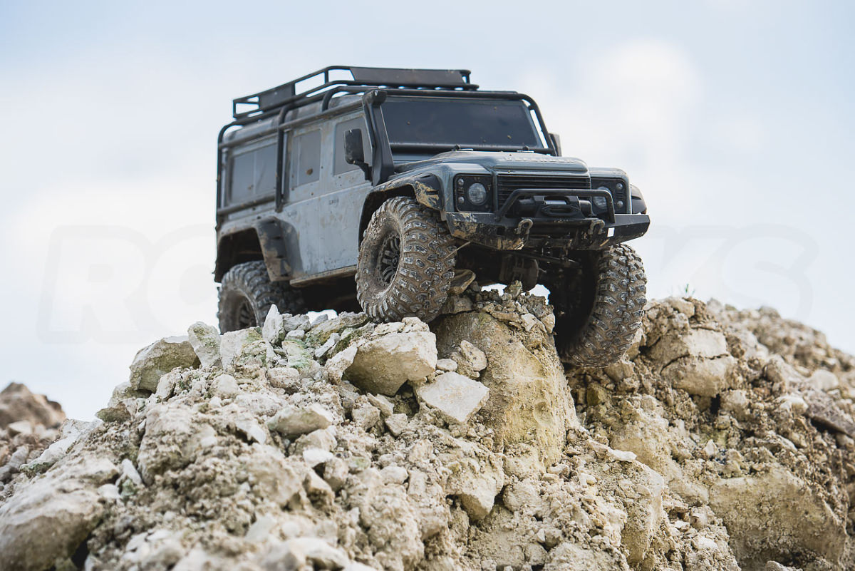 Traxxas TRX-4 Land Rover Defender articulation front