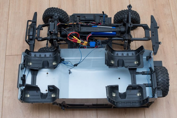 Traxxas TRX-4 Light kit installation all wired up