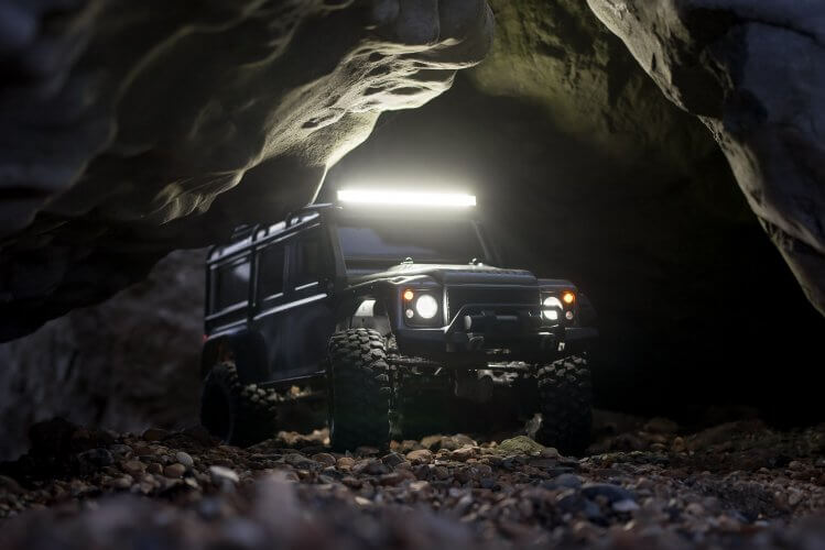 Traxxas TRX-4 Light kit installation feature cave lead image