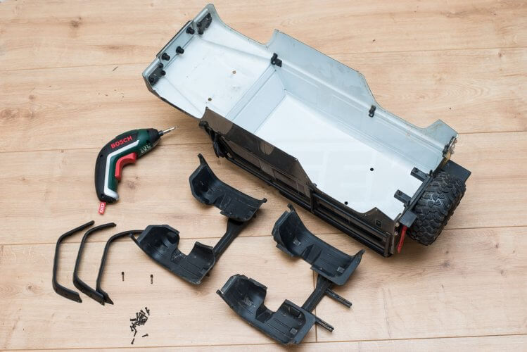 Traxxas TRX-4 Light kit installation remove all arch liners