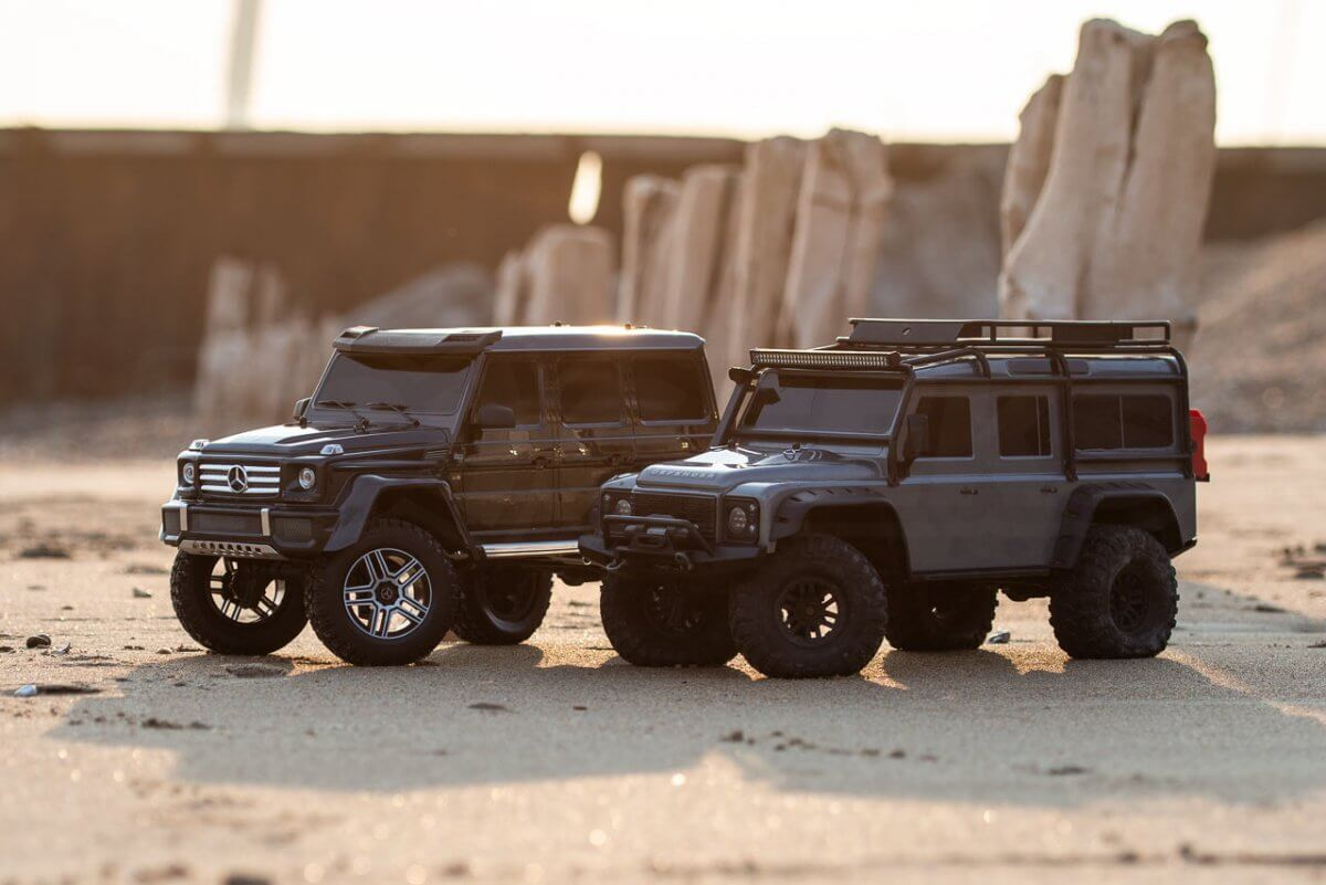 Traxxas TRX 4 Mercedes Benz G500 G wagon review Defender comparison lifes a beach wide