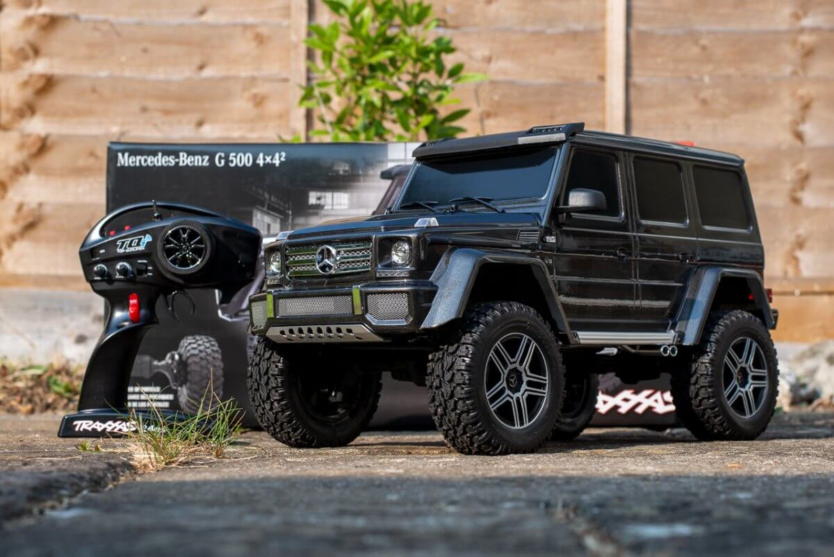 Traxxas TRX 4 Mercedes Benz G500 G wagon unxboxing review with transmitter
