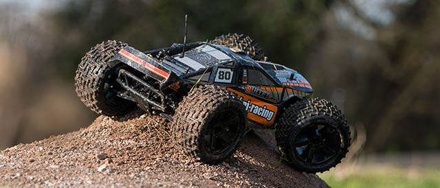 off road car in action
