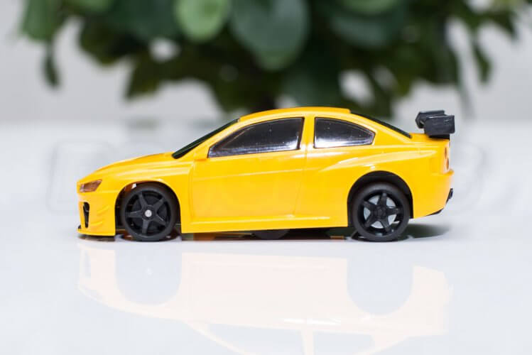 dr!ft scale drift gymkhana review car yellow beast side evo