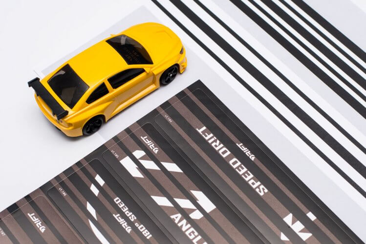 dr!ft scale drift gymkhana review track elements print out