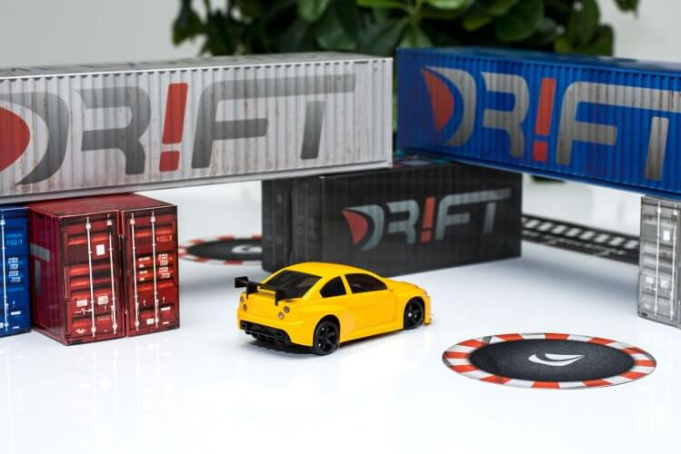 dr!ft scale drift gymkhana review yellow beast rear container scene wide