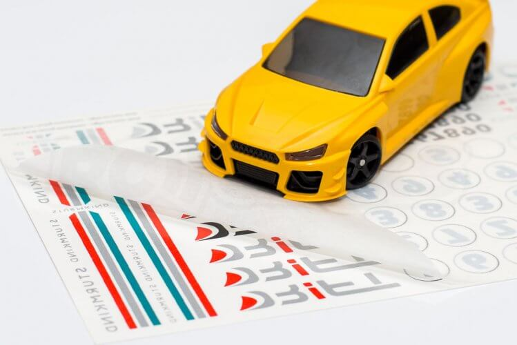 dr!ft scale drift gymkhana review yellow beast stickers decals