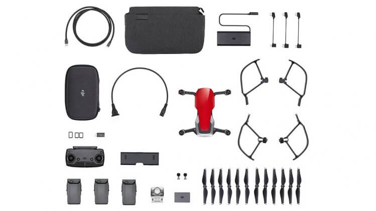 mavic air fly more combo red
