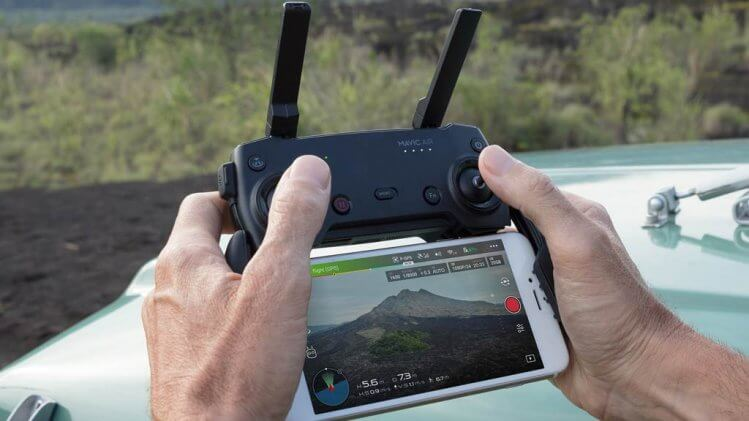 mavic air transmitter with iPhone