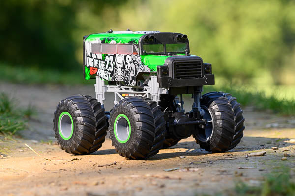 Green truck front