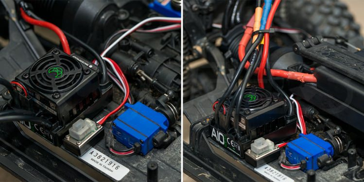 trx4 defender brushless conversion new speed controller installed