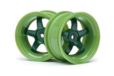 HPI Work Meister S1 Wheels Green 6mm 2pcs