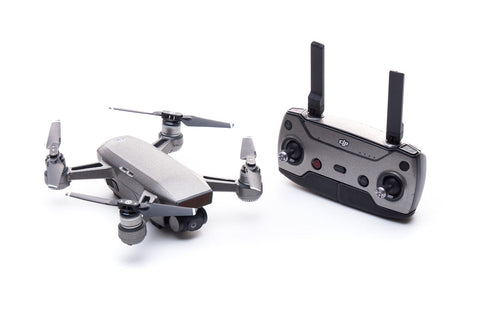 Modifli Drone Skin for DJI Spark - Brushed Titanium