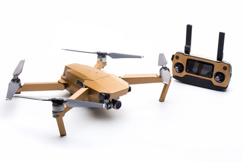 Modifli Drone Skin for DJI Mavic Pro - Brushed Gold