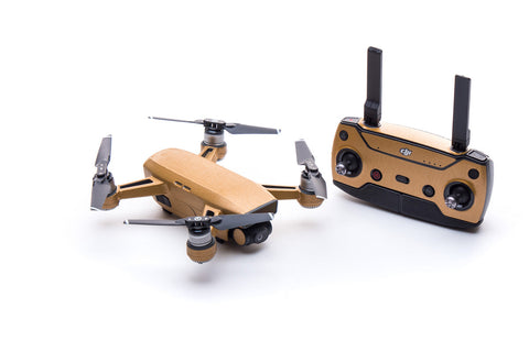 Modifli Drone Skin for DJI Spark - Brushed Gold