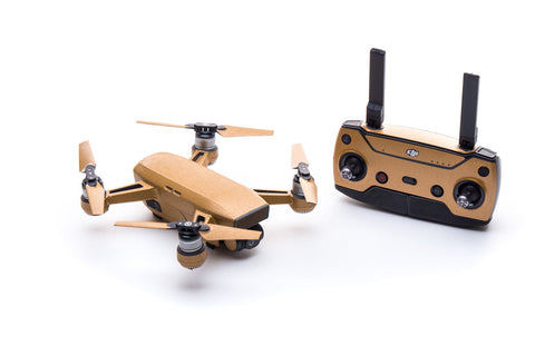 Modifli Drone Skin for DJI Spark Propwrap™ Combo - Brushed Gold
