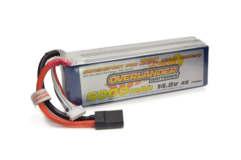 Overlander SuperSport 14.8V 5000mAh 35C LiPo - TRX