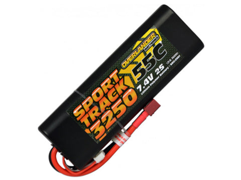 Overlander 3250mAh 2S 7.4v 55C LiPo Battery Hard Case