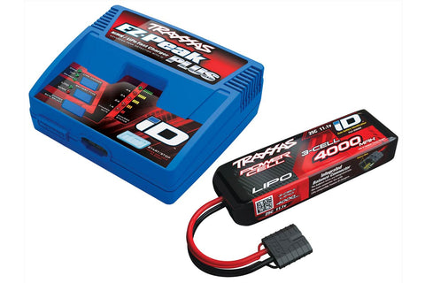 Traxxas EZ Peak Plus Charger + 3S 4000mah LiPo Battery