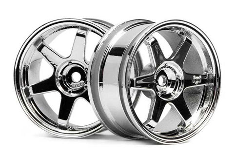 HPI Racing 1/10 Scale Rays Volk TE37 Chrome Wheels 26mm +3mm