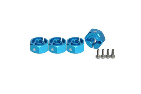 3Racing Sakura D3 6mm Wheel Spacer Adapter Blue