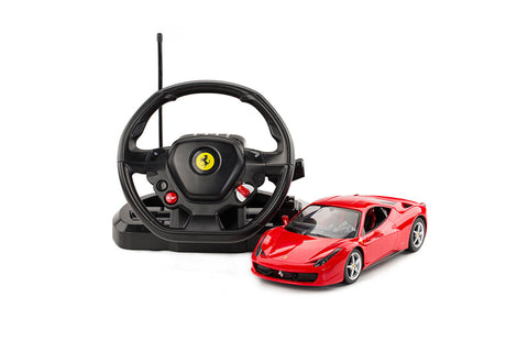 Ferrari 458 Italia Red with Wheel Controller Silver