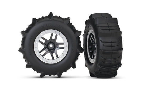 Traxxas Short Course Paddle Tyres Mounted on Wheels (2)