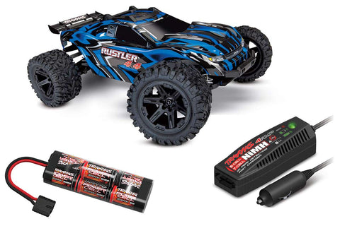 Traxxas Rustler 4x4 XL-5 Power Bundle - Blue