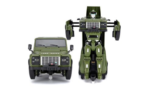 Rastar 1/14 Land Rover Defender Transforming Car Green