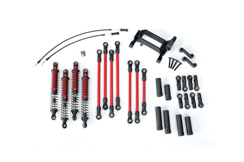 Traxxas TRX-4 Long Arm Lift Kit Red