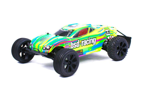 BSD Racing Prime Storm V3 1/10 Truggy RTR Yellow/Green