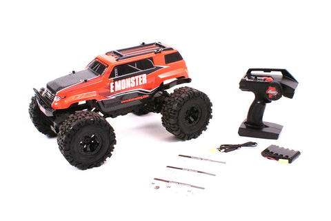 BSD Racing 1/10th 4WD E-Monster Rock Crawler RTR Orange