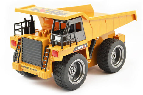 HuiNa 1/18 Dump Truck with Die Cast Cab