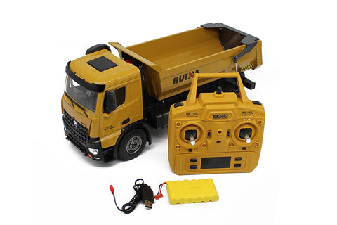 HuiNa 1/14 Dump Truck 2.4G 10CH with Die Cast Cab & Dump Bed