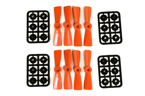 Diatone 3045 Bull Nosed Propellers Orange 8pcs