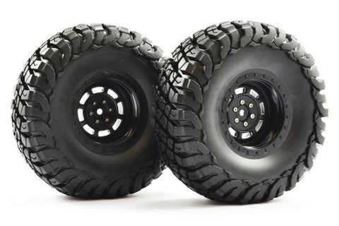 "FTX Mauler 2.2"" All Terrain Wheels and Tyres Black"