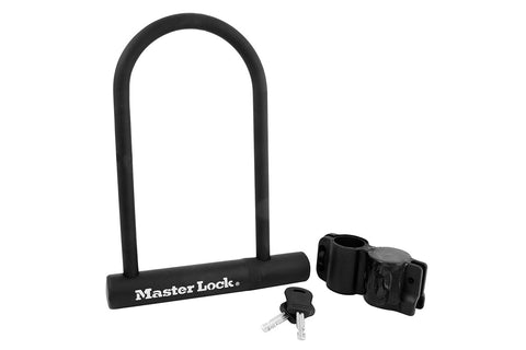 Master Lock 12mm D Lock and Carrier Bracket