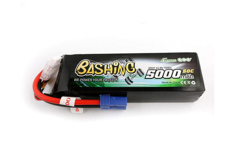 Gens Ace 4S 14.8v 5000mah 50C LiPo Battery - EC5