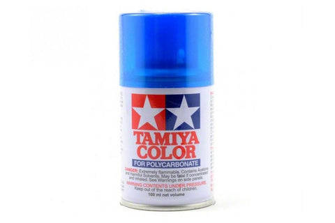 Tamiya Polycarbonate Spray Paint 100ml Translucent Light Blue PS-39