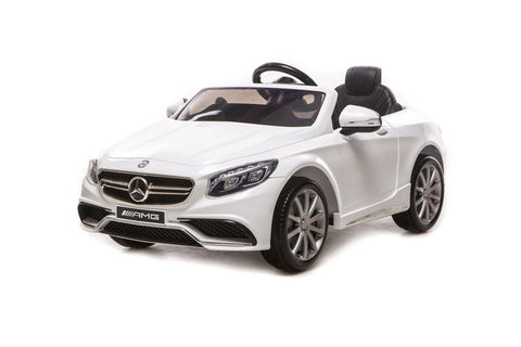 Mercedes S63 Ride On Car - White