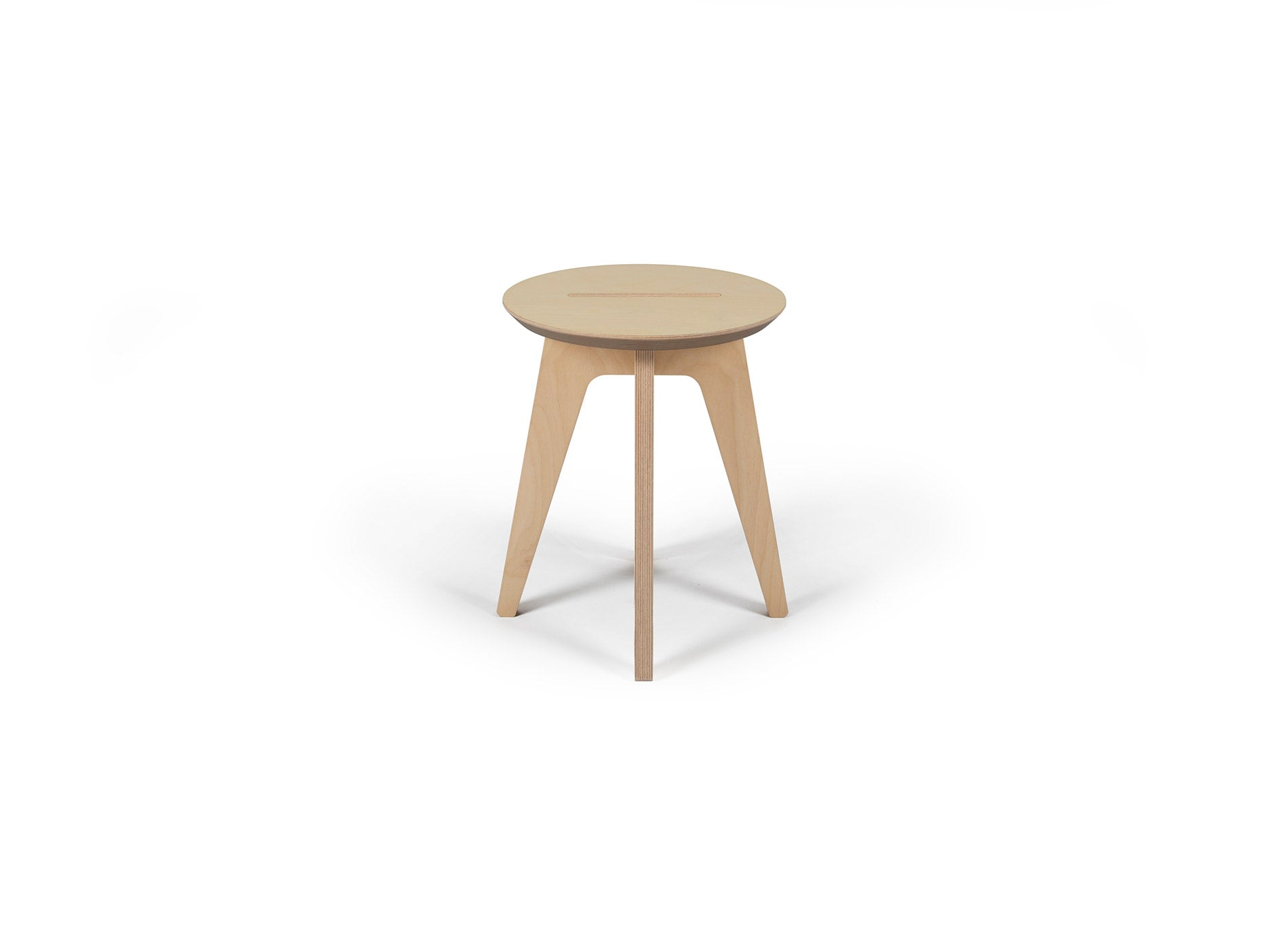 Caramba Humble Stool, Wood Top
