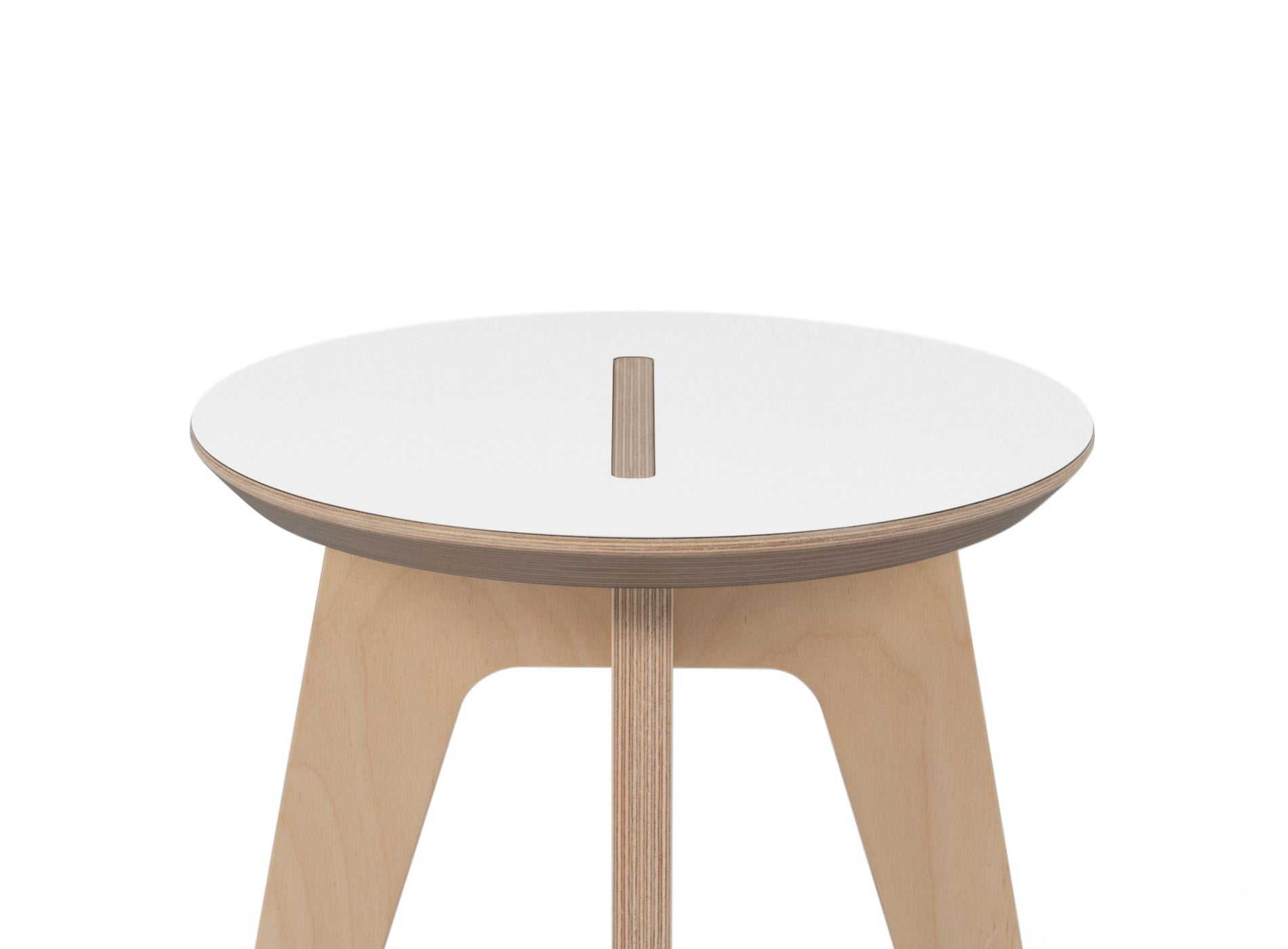 Caramba Humble Stool, White Top Close Up