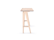 Caramba Standing Desk, Wood Top, Side View