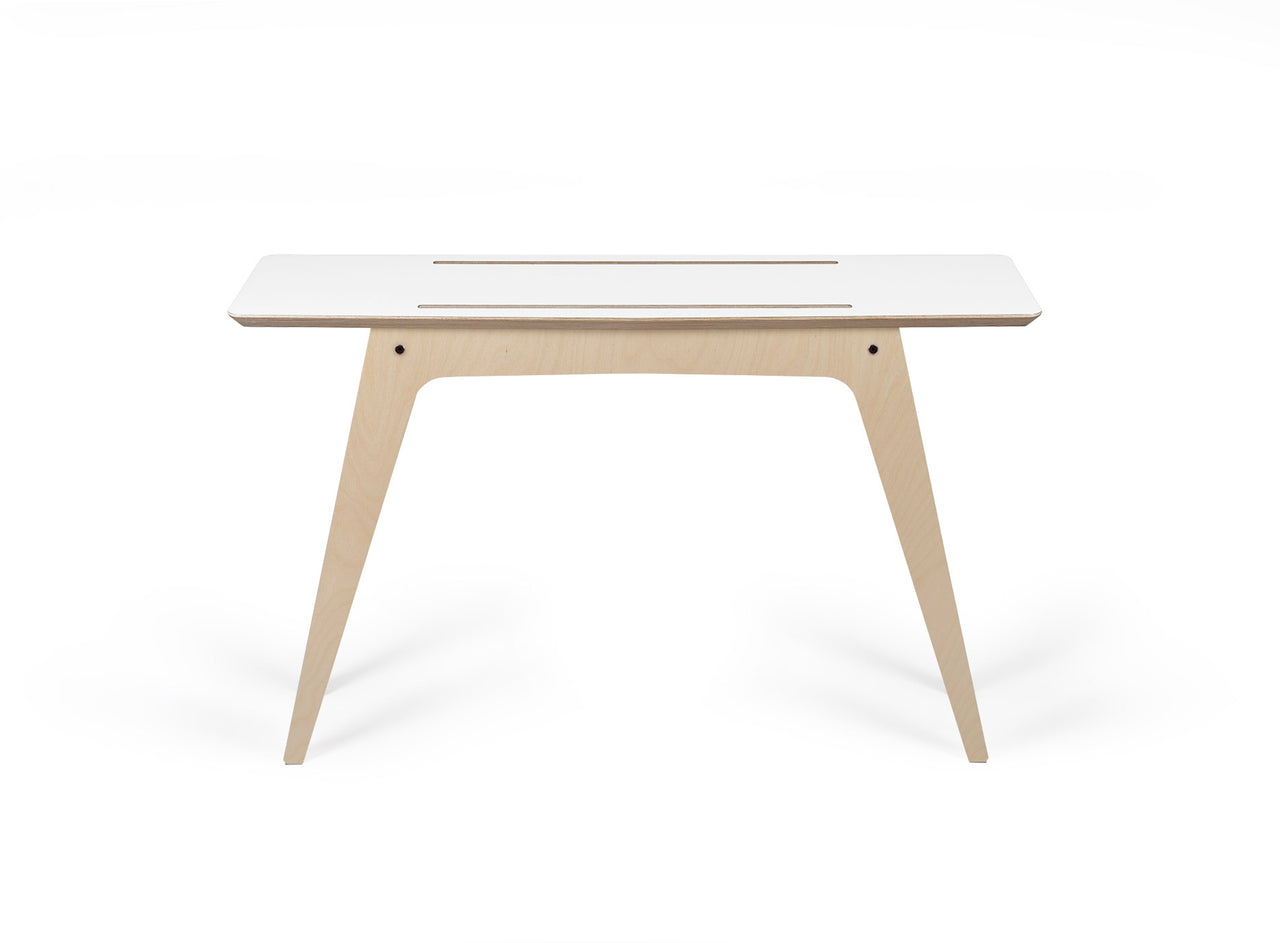 Caramba Console Table, White Top, Full View