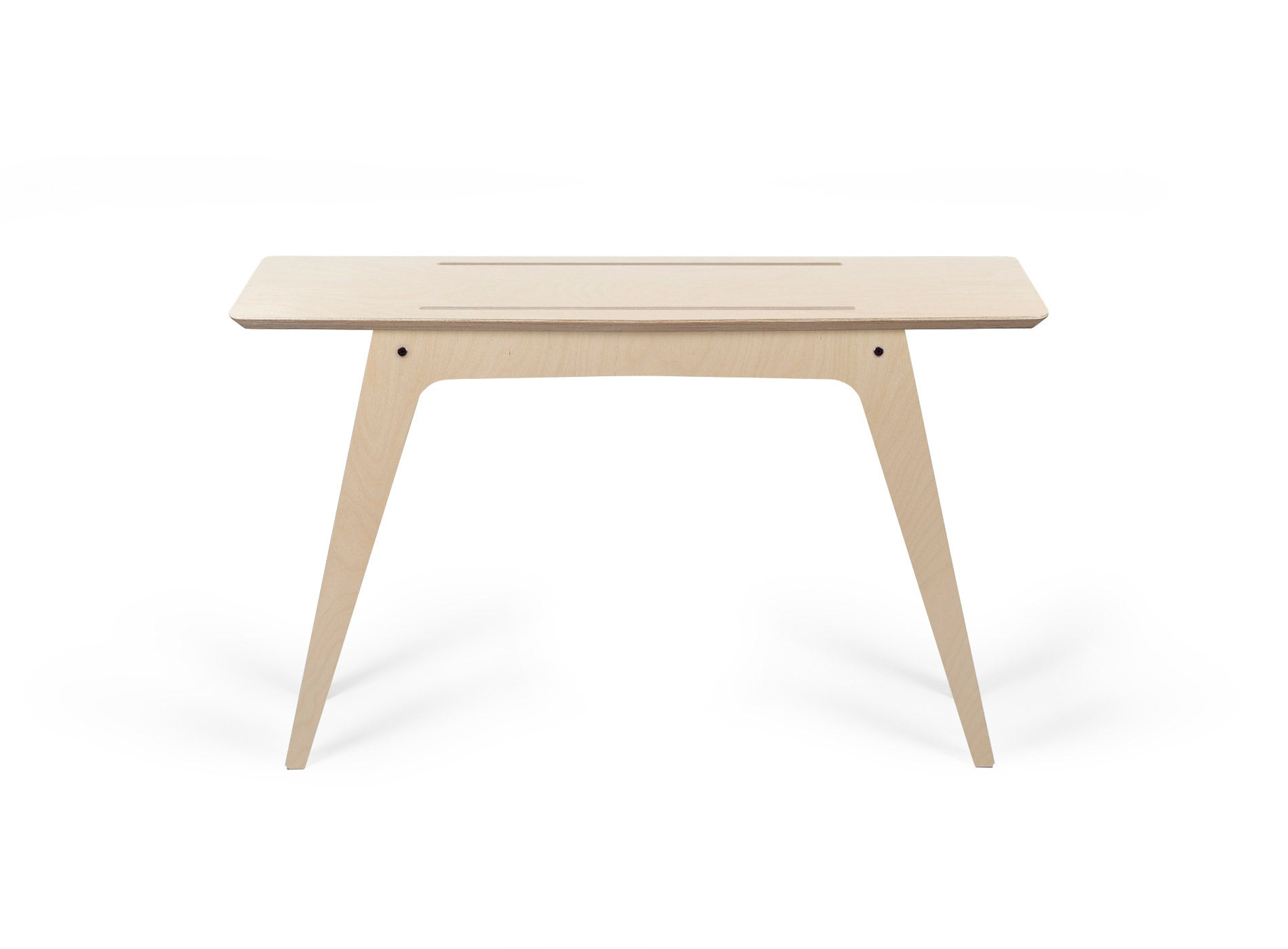 Caramba Console Table, Wood Top Full View
