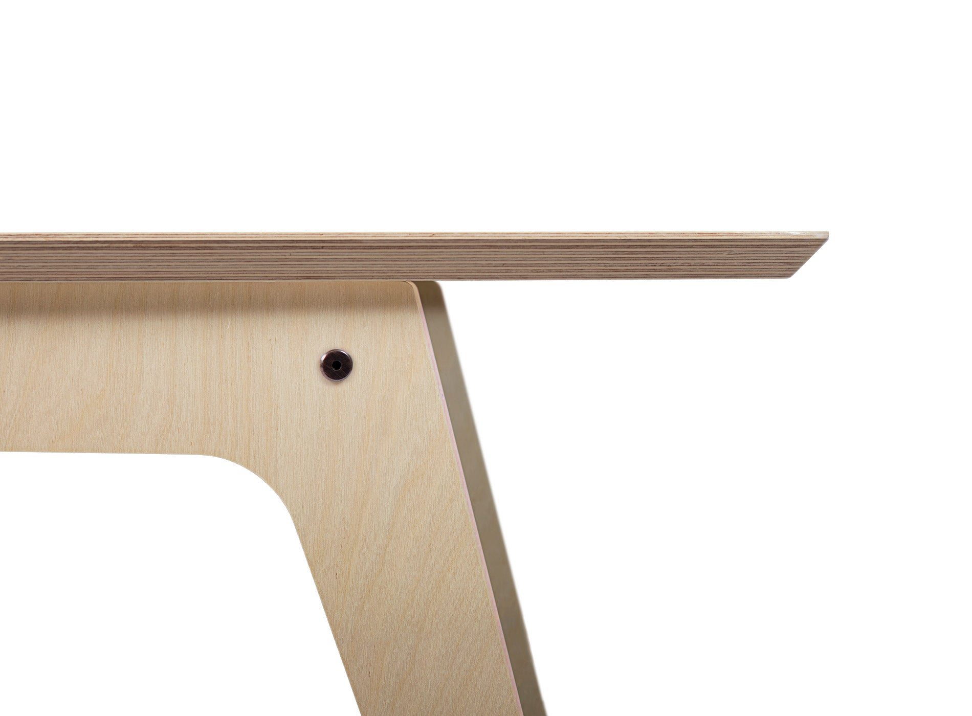 Caramba Console Table, Edge Detail