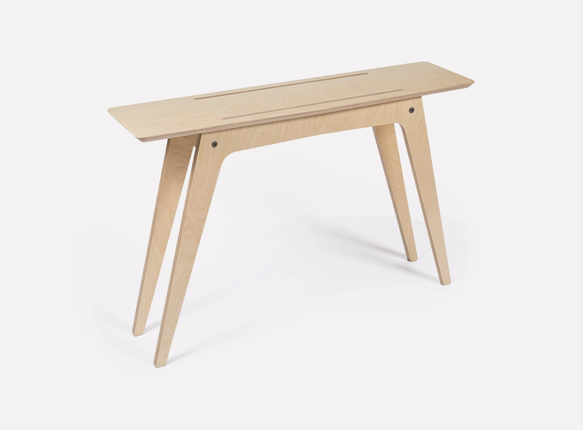 Caramba Console Table, Wood Top, Full View