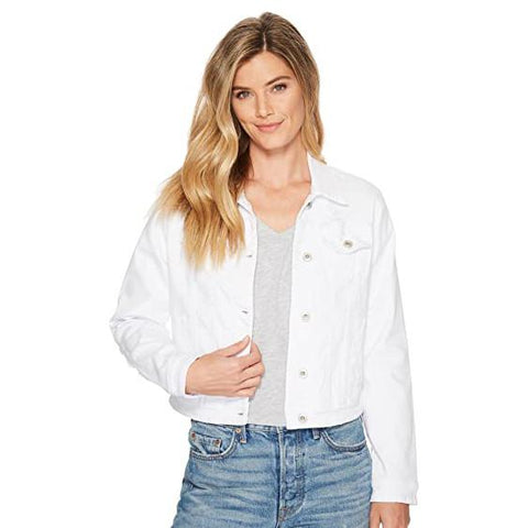 Tribal White Jean Jacket